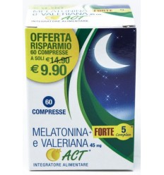 924451913-MELATONINA ACT 1MG +VALERIANA 5 FORTE COMPLEX 60 COMPRESSE